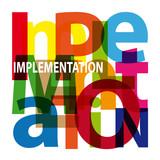 Vector Implementation. Broken text poster