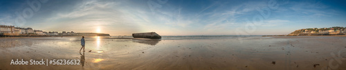 Gold beach, panoramic view