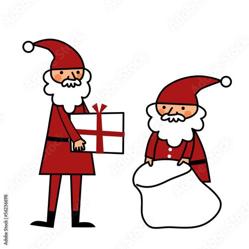 プレゼントを準備するサンタクロース