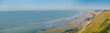 Normandy beach from the cliff