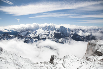 Italian Dolomites, winter landscape