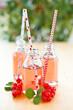 canvas print picture - Frische Limonade in kleinen Flaschen