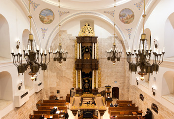 the Hurva synagogue in Jerusalem