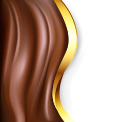 chocolate background with gold