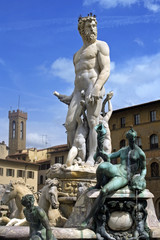 Neptune fountain in Florence
