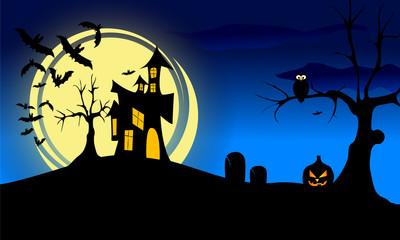 halloween krajobraz
