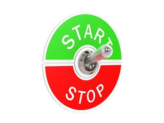 Start stop toggle switch