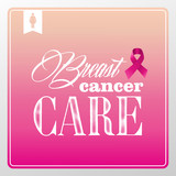 Breast cancer awareness symbols vintage banner concept  EPS10 fi