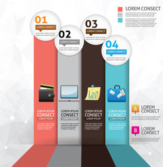 Business concept option infographics