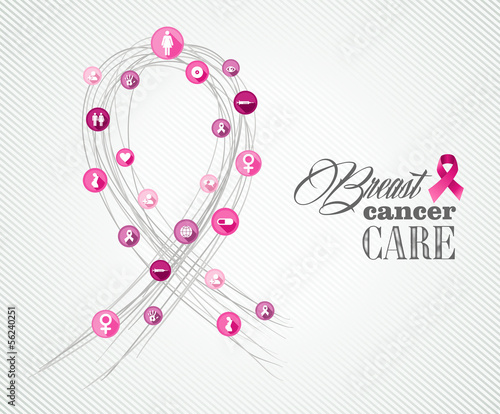 Breast cancer awareness symbols concept banner EPS10 file.