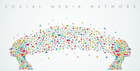 Women heads shape social media network composition. EPS10 file.
