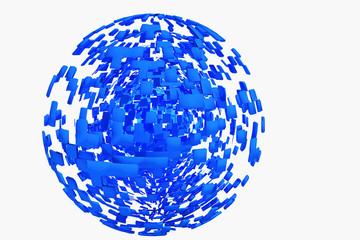 地球のイメージの球のオブジェ