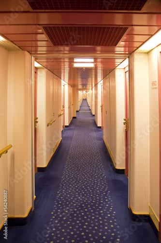 Saloon deck on a liner