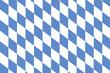 canvas print picture - Bayrisches Rautenmuster als Hintergrund