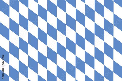 canvas print picture Bayrisches Rautenmuster als Hintergrund