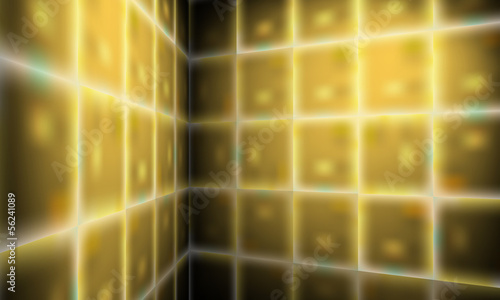 golden perspective vector abstract background