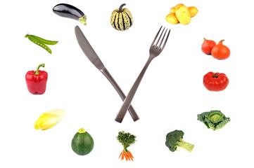 L'horloge des légumes