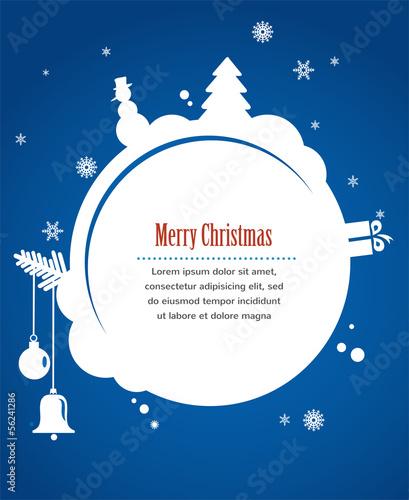 kartka świąteczna z bałwana, teraźniejszości i choinki
