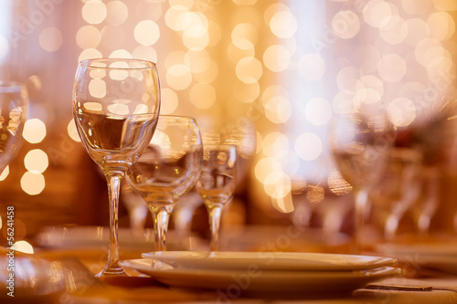 beautifully served table in a restaurant - 56241458