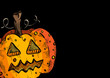 Happy Halloween old pumpkin face lantern illustration EPS10 file