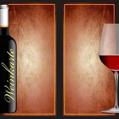 Weinkarte - doppelseitig