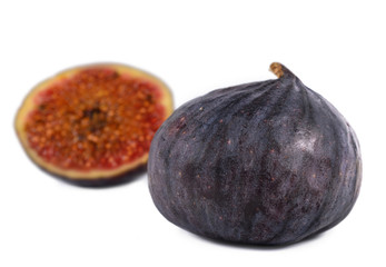 Juicy ripe purple fig