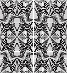 Abstract seamless zebra geometric pattern