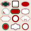 Set Of Christmas Frames Pattern Red/Green
