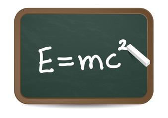 Kreidetafel E=mc2