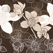 Seamless  background with orchids