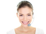 Customer service representative headset woman