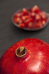 Granatapfel und Granatapfelkerne