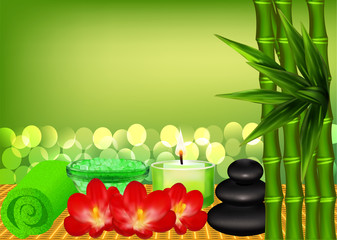 background for spa with bamboo