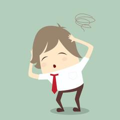 popular businessman serious stress concern confused hard work ve