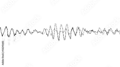 Graphical display of sound waves on the electronic screen