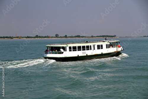 vaporetto in Venice for the transportation of tourists and peopl