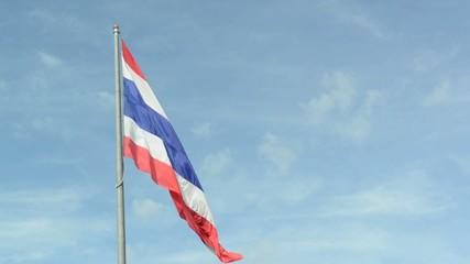 Nation flag against the sky