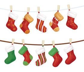 Vector Christmas socks.