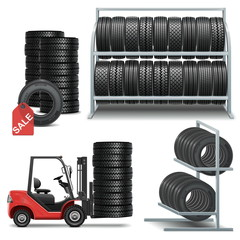 Vector Tire Shop Icons