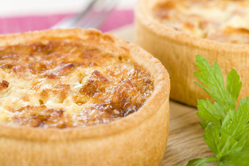 Quiche Lorraine - Individual quiches with bacon and cheese