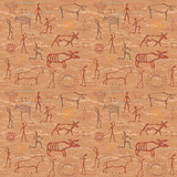 Fototapety seamless pattern in the style of rock painting