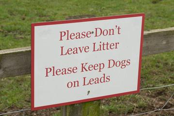 litter notice