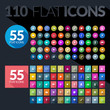 Set of flat icons for mobile app and web