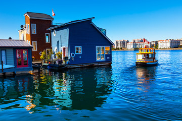Floating Home Village Water Taxi Inner Harbor Victoria
