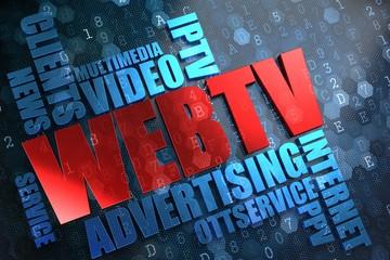 WEB TV. Wordcloud Concept.