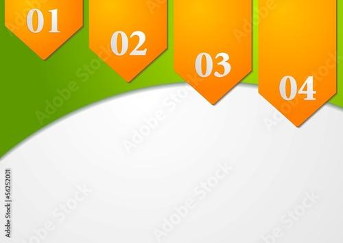 Colourful modern vector card