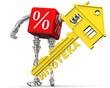 Процент в виде робота предлагает купить жильё в ипотеку