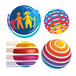 Colorful sphere icons