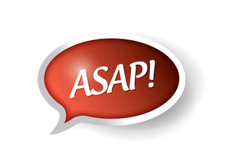 asap message bubble illustration