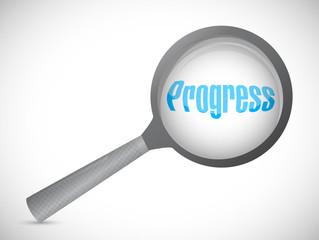 magnify progress illustration design